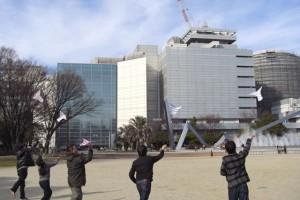 【尻P】ニコニコ技術部が羽ばたき飛行機練習会を名古屋で開催。公園を舞う【ワンカップP】