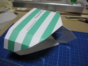 【展示作品】だいぶアレな空飛ぶ紙製パンツ