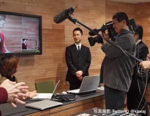 震災ニュース 日本手話放送がテレビ局から取材を受けました